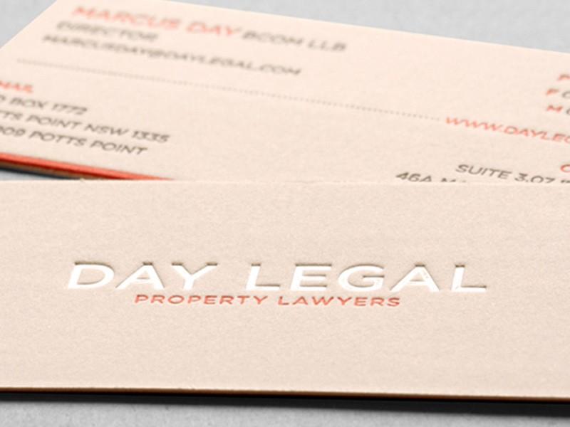 Letterpress Business Cards   Debossed Business Cards   Canada