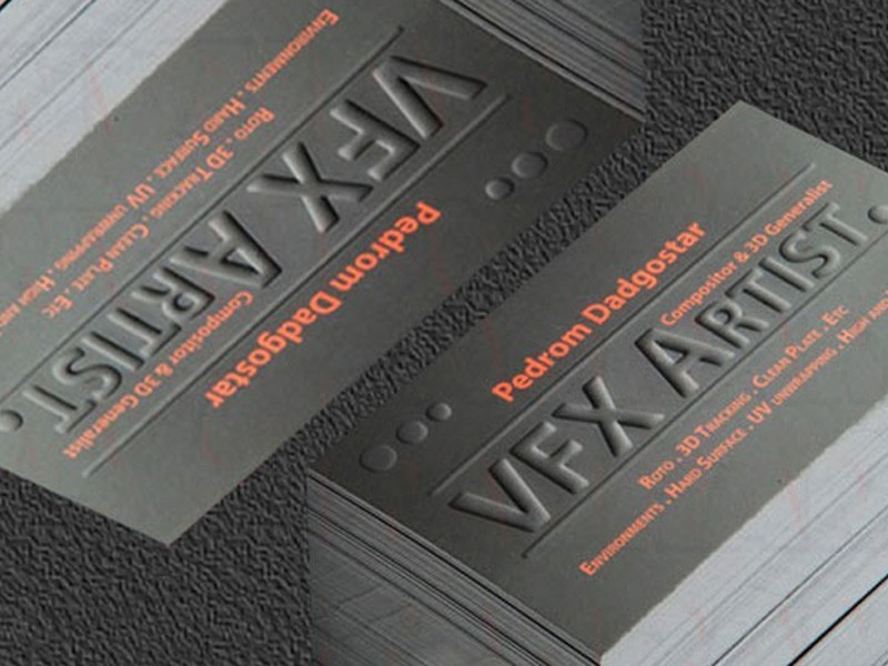 embossing business cards