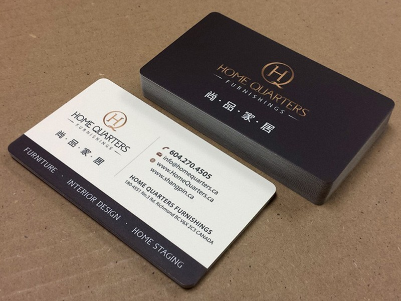 Matte Business Cards | Silk Laminated Business Cards | Canada